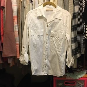 White button up Michael Kors top